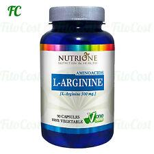 L ARGININA 500 mg. 90 Capsulas - NUTRIONE - Fatiga Cansancio salud sexual