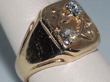14k Gold ring with DIamonds and letters P,B