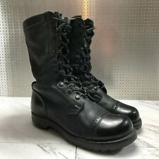 Vintage 1950's Korean War CORCORAN Black Leather Military Boots mens size 8 W