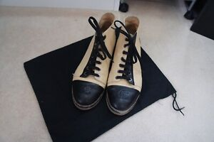 Chanel  Cream and black Boots SZ UK 6 / EU 39
