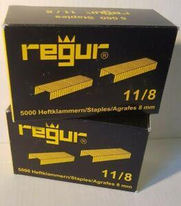 Tackerklammern  Regur  Typ  11/8   G    10 000 Stück  in 8mm  Rückenb.10,6x1,25