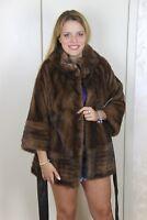 New Mink Jacket Entire Skins Pelliccia Visone Fur Coat Nerz Sable Women Pelz