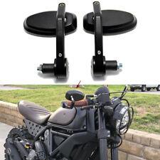 "MOTORCYCLE CUSTOM BLACK HANDLE BAR END REARVIEW MIRRORS 7/8"" FOR SUZUKI HONDA US"