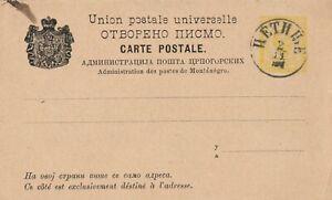 Old Post (1900 rds)  card Montenegro Hethe
