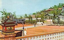 Republic Of China Tapei Taiwan Tennis Courts Grand Hotel c1950 Chrome Postcard