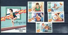 "1992 CAMBODIA, Set and Sheet ""OLIMPIADAS BARCELONA´92, BARCELONA OLYMPIC 92 """