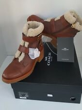 Women Coach Preston' Bootie with Genuine Shearling Trim Size 8.5M