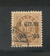 Iceland #55 (A2) XF Used - 1902 16a Brown Overprinted