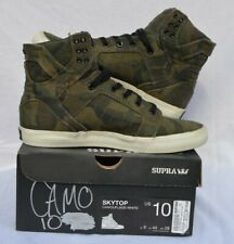 Supra Skytop Vaider Muska Camo High Top Sneakers. Size M10 Skateboarding Shoes.