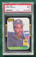 Barry Bonds rookie card graded PSA 9 Mint - 1987 LEAF Pirates Giants RC
