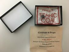 Titanic Coal With Certificate From 1994 Expedition RMS Titanic Artifact