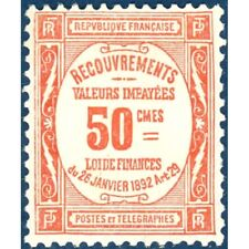 TAXE N°_47 ROUGE TIMBRE NEUF * 1908-1925, expertisé signé Calves