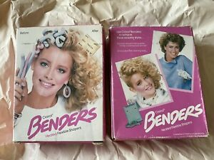 Vintage Clairol Benders Hot Rollers Heated Flexible Curlers 1985 With Box