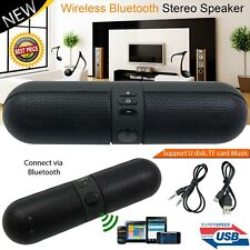 Super Bass Mini Portable Pill Wireless Bluetooth Outdoor Speaker FM USB Stereo