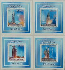 Conquest of Space Ariane SET 4 SHEETS DELUXE Sao Tome 2009 Sc.2097 #ST9314d