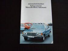 MERCEDES  PROSPEKT · Automatik · 12/1977