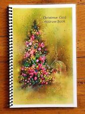 CHRISTMAS CARD ADDRESS BOOK Organizer A-Z Personalized Gift 8 yrs Church 230