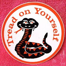 """COLLECTIBLE COMIC ITEMS-- """"TREAD ON YOURSELF"""" 3"""" DECALS--NEW--FREE SHIPPING"""