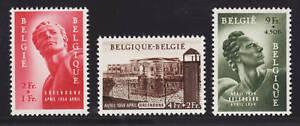 Belgium Sc B558-B560 MLH. 1954 Political Prisoners cplt