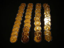 LOT OF 20 - 24 KT GOLD PLATED *J.F KENNEDY 50 CENT - 20 COIN SET* EACH IN HOLDER