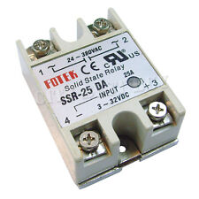 5 SSR DA 25A 24-380VAC 3-32VDC Solid State Relay for PID Temperature Controller