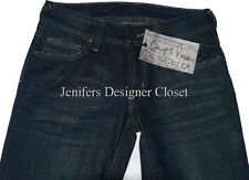 NWT CHIP & PEPPER blue jeans designer celebrity 30 denim skinny dark distressed