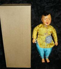 VINTAGE CHINESE CHARACTER COMPOSITION DOLL COWBOY IN ORIGINAL BOX & TAG