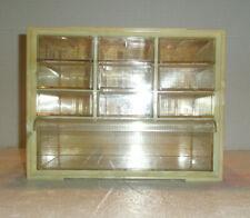 Vintage AKRO-MILS Notions Storage Cabinet Hard Plastic 10 Drawers