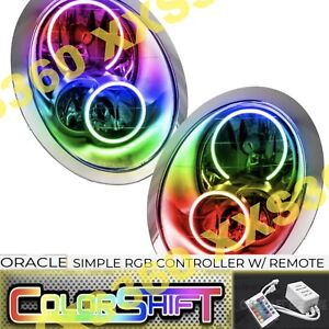 ORACLE Halo HEADLIGHTS for Mini Cooper/S 05-08 COLORSHIFT LED Simple w/ Remote