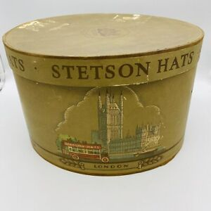 Vintage Stetson New York Paris London Philadelphia Hat Box