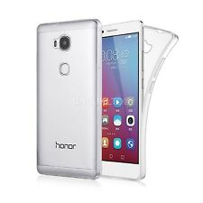 Clear Slim Gel Case and Glass Screen Protector for Huawei Honor 6A