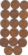1934PD &  1935 PDS thru 1940 P D S,Complete 20 coin Lincoln Wheat  free shipping