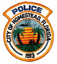 HOMESTEAD FLORIDA FL Police Sheriff Patch PALM TREE SUNRISE JET AIRPLANE