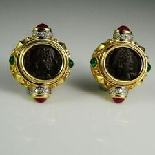 Earrings Ruby 18k Vintage & Antique Jewellery