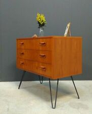 Teak 60cm-80cm 3 Chests of Drawers