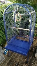 Large bird cage - on casters - good condition