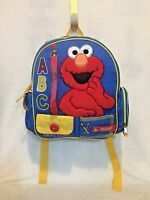SESAME STREET Colorful ELMO Toddler LEARNING Adjustable Strap Backpack
