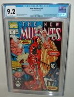 The New Mutants # 98 1st DEADPOOL HOT KEY Domino CGC 9.2 White Pages NEAR MINT