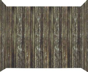"""100ft x 47"""" Brown Rotted Wood Wall Backdrop Halloween Haunted House Decoration"""