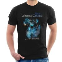 WINTER IS HERE T-SHIRT Game of thrones White Walkers King & Dragon coming C50