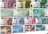 Lot Set Training Banknoten EU Euro aus China € 5,10,20,50,100,200,500 UNC SELTEN
