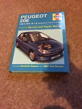 PEUGEOT 206 PETROL & DIESEL 1998 to 2001 HAYNES SERVICE & REPAIR MANUAL