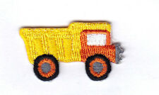 Yellow Truck Mini Vehicles Trucks Iron On Embroidered Applique Patch