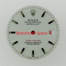 Original Men's Rolex Datejust Turn-O-Graph 116264 Gloss White Stick Dial SS #A40