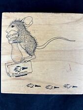 House Mouse rubber stamp Pogo stamp 1998 #001 collectible