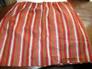 Ralph Lauren Juliette QUEEN Bedskirt Red Black Gold Cream Stripes NWOT