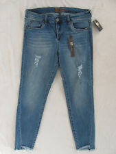 Kut From The Kloth Skinny Destructed Ankle Hi Lo Jeans-Med Wash-Size 10-NWT $89