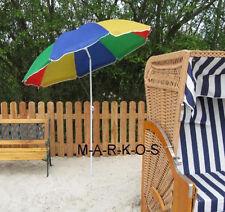 Sonnenschirm mit Knickgelenk,Metall,Strandschirm Regenbogen,Sonnen Strand Schirm