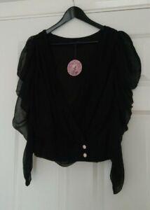 Traffic People Ladies 100% Silk Sheer Festival Top Blouse UK Size 10 Brand New