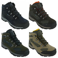 Hi-Tec Mens Storm Walking Boots Hiking Waterproof Leather Mesh Lace Up Trail